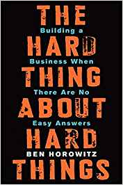 The Hard Thing About Hard Things - Book Cover - Summer Reading List - Part 1
