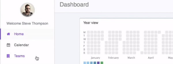 gif that shows how to see upcoming holidays