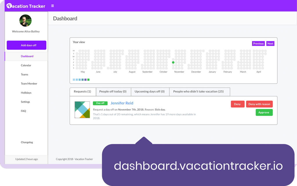 features vacation tracker
