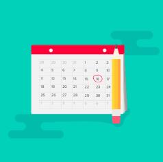 vacation tracking calendar 2019