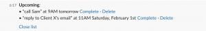 Slack Reminders screen shot 3