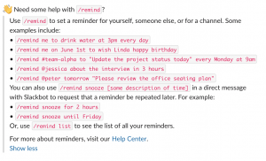 Slack Reminders screenshot 2