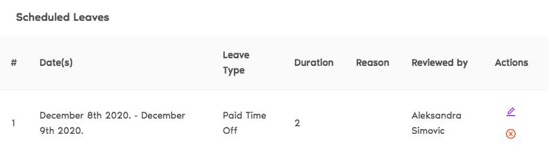 edit scheduled leave
