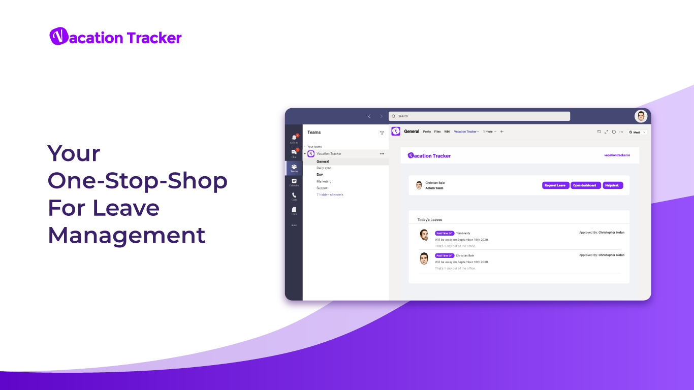 Introducing Vacation Tracker for Microsoft Teams