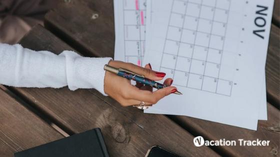 employee leave tracking calendar